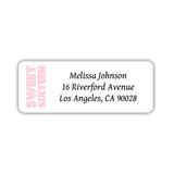 Sweet 16 address labels - Pink - Dazzling Daisies