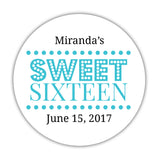 Sweet 16 stickers 'Classic Boldness' - 1.5
