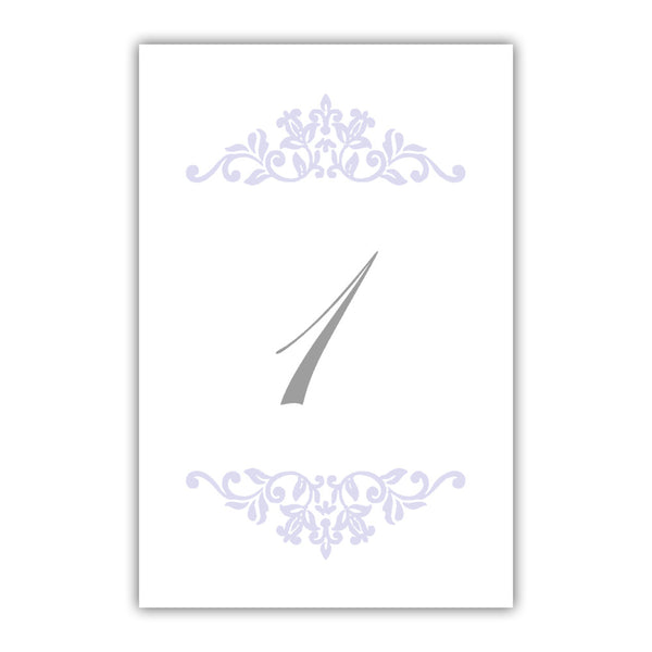 Table numbers Clean Ornament - 1-6 / Lavender - Dazzling Daisies