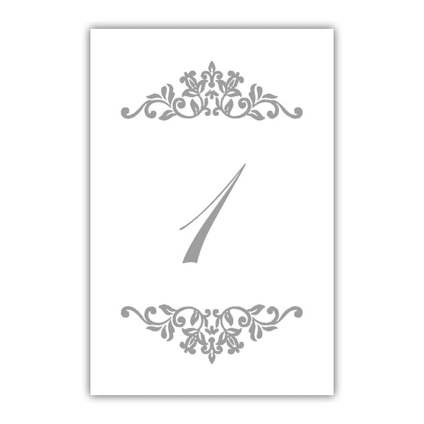 Table numbers Clean Ornament - 1-6 / Silver - Dazzling Daisies