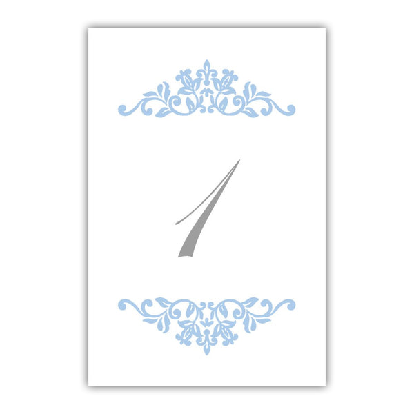 Table numbers Clean Ornament - 1-6 / Steel blue - Dazzling Daisies