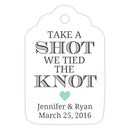 Take a shot we tied the knot tags - Aquamarine - Dazzling Daisies