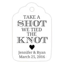 Take a shot we tied the knot tags - Black - Dazzling Daisies