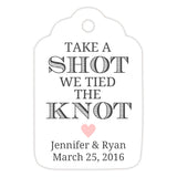 Take a shot we tied the knot tags - Blush - Dazzling Daisies
