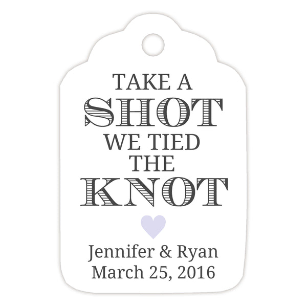 Take a shot we tied the knot tags - Lavender - Dazzling Daisies