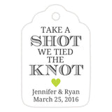 Take a shot we tied the knot tags - Lime - Dazzling Daisies
