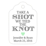 Take a shot we tied the knot tags - Mint - Dazzling Daisies