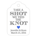 Take a shot we tied the knot tags - Royal blue - Dazzling Daisies