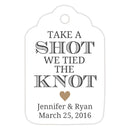Take a shot we tied the knot tags - Sand - Dazzling Daisies