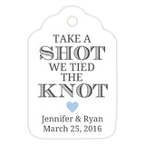 Take a shot we tied the knot tags - Steel blue - Dazzling Daisies