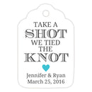 Take a shot we tied the knot tags - Turquoise - Dazzling Daisies