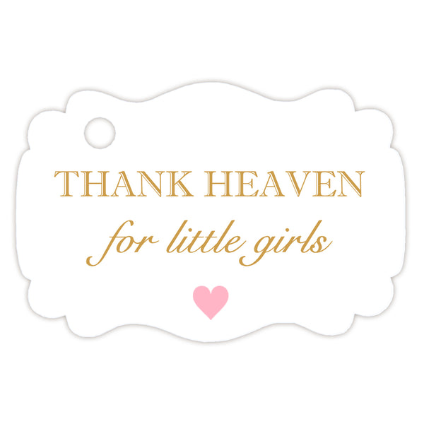 Thank heaven for little girls tags - Gold - Dazzling Daisies