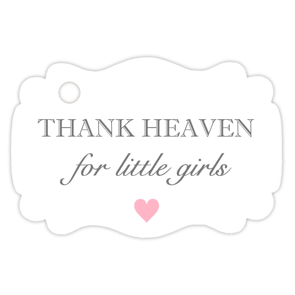 Thank heaven for little girls tags - Sage - Dazzling Daisies