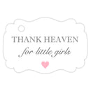 Thank heaven for little girls tags - Gray - Dazzling Daisies