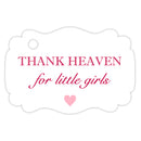 Thank heaven for little girls tags - Raspberry - Dazzling Daisies