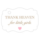 Thank heaven for little girls tags - Sand - Dazzling Daisies