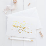 Thank you cards 'Absolute Elegance' - Gold foil - Dazzling Daisies