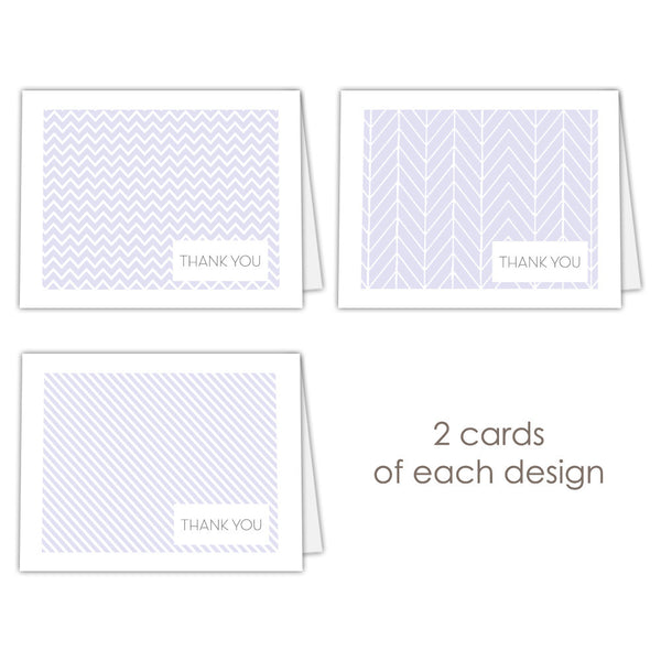 Thank you cards 'Geometric Patterns' - Lavender - Dazzling Daisies