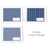 Thank you cards 'Geometric Patterns' - Navy - Dazzling Daisies