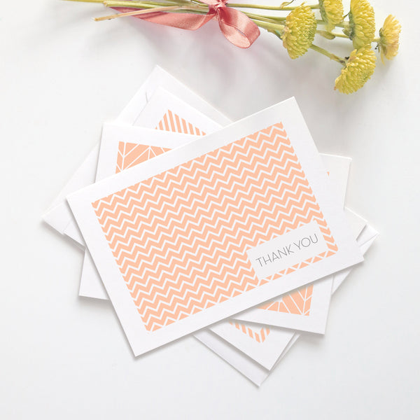 Thank you cards 'Geometric Patterns' -  - Dazzling Daisies