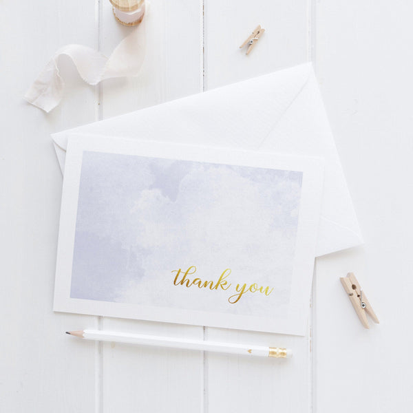 Thank you cards 'Whimsical Watercolor' - Lavender - Dazzling Daisies