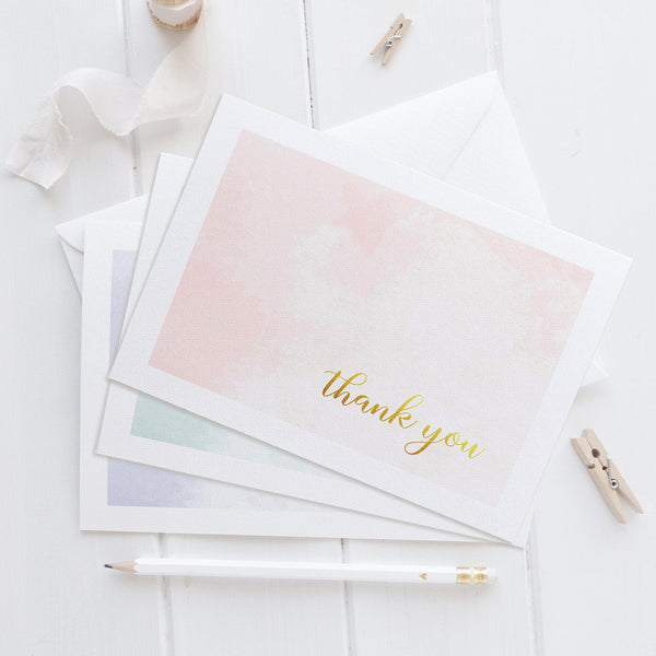 Thank you cards 'Whimsical Watercolor' - Mixed - Dazzling Daisies