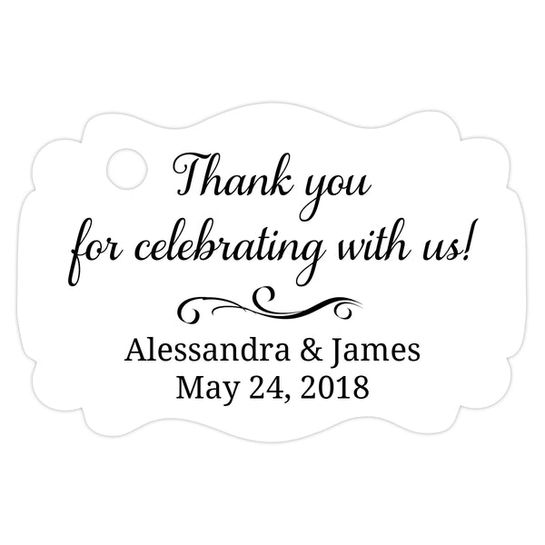 Thank you for celebrating with us tags - Black - Dazzling Daisies