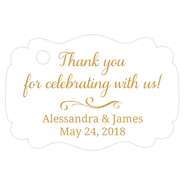 Thank you for celebrating with us tags - Gold - Dazzling Daisies