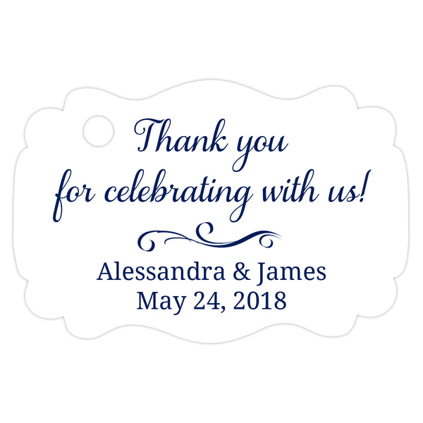Thank you for celebrating with us tags - Navy - Dazzling Daisies