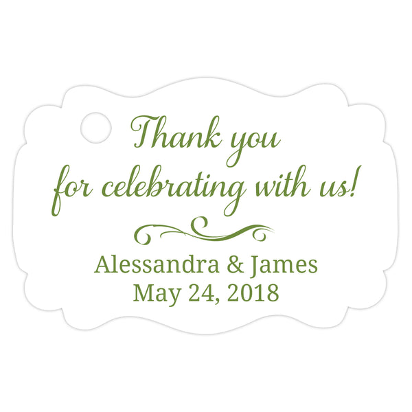 Thank you for celebrating with us tags - Olive - Dazzling Daisies