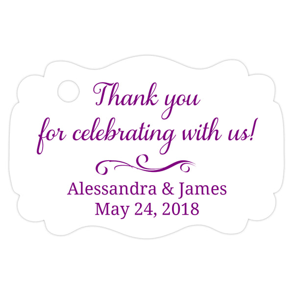 Thank you for celebrating with us tags - Purple - Dazzling Daisies