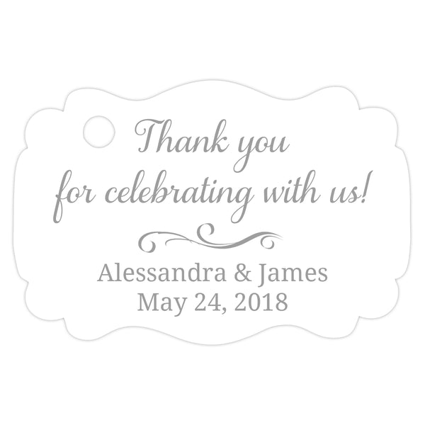Thank you for celebrating with us tags - Silver - Dazzling Daisies