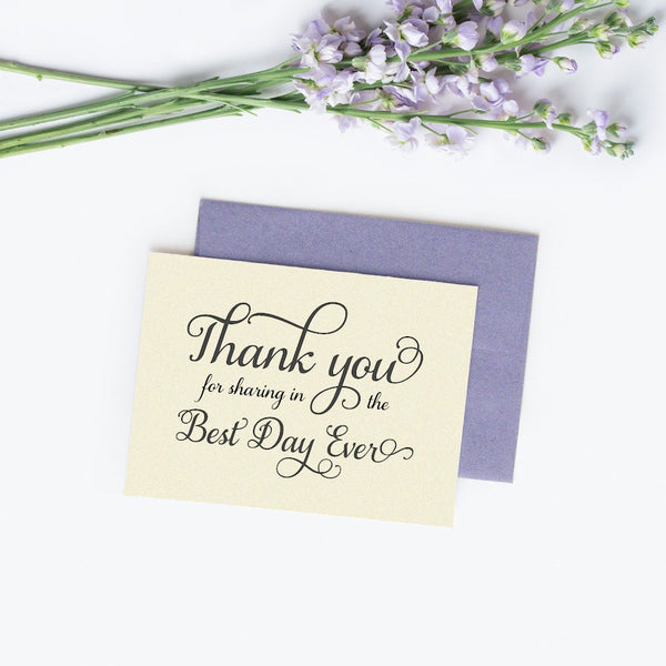 Thank you for sharing in the best day ever cards 'Excellent Elegance' - Champagne / White - Dazzling Daisies