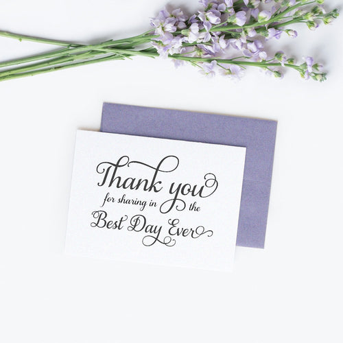 Thank you for sharing in the best day ever cards elegant - White / White - Dazzling Daisies