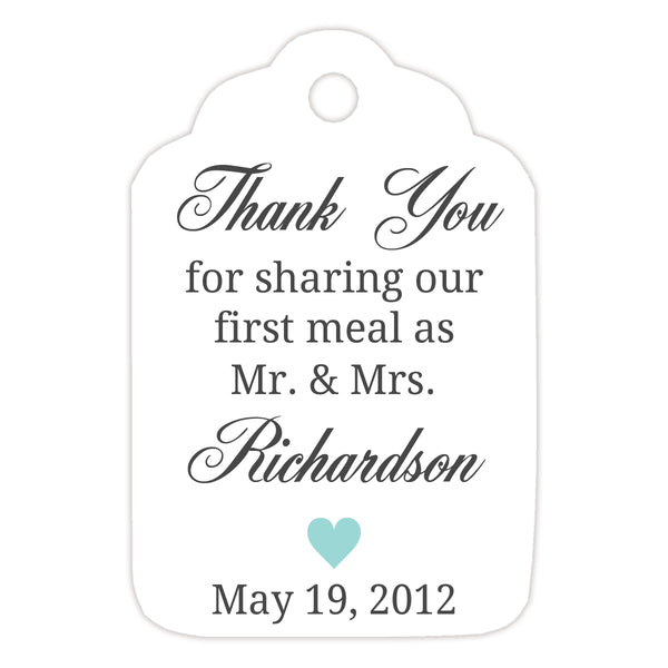 Thank you for sharing our first meal tags - Aquamarine - Dazzling Daisies