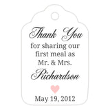 Thank you for sharing our first meal tags - Blush - Dazzling Daisies