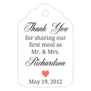 Thank you for sharing our first meal tags - Coral - Dazzling Daisies