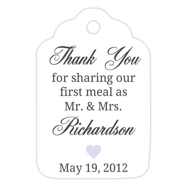Thank you for sharing our first meal tags - Lavender - Dazzling Daisies