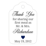 Thank you for sharing our first meal tags - Navy - Dazzling Daisies