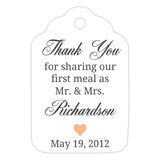 Thank you for sharing our first meal tags - Peach - Dazzling Daisies