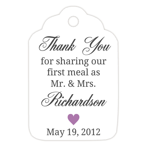 Thank you for sharing our first meal tags - Plum - Dazzling Daisies