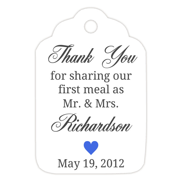 Thank you for sharing our first meal tags - Royal blue - Dazzling Daisies