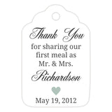 Thank you for sharing our first meal tags - Sage - Dazzling Daisies