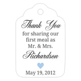 Thank you for sharing our first meal tags - Steel blue - Dazzling Daisies