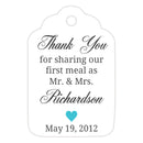 Thank you for sharing our first meal tags - Turquoise - Dazzling Daisies