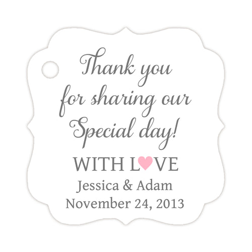 Thank you for sharing our day tags - Gray/Pink - Dazzling Daisies