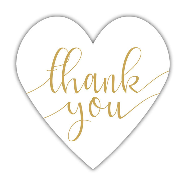 Thank you stickers 'Heavenly Heart' - Gold - Dazzling Daisies