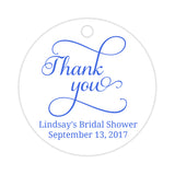 Thank you tags 'Swash Supreme' - Royal blue - Dazzling Daisies