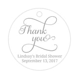 Thank you tags 'Swash Supreme' - Silver - Dazzling Daisies
