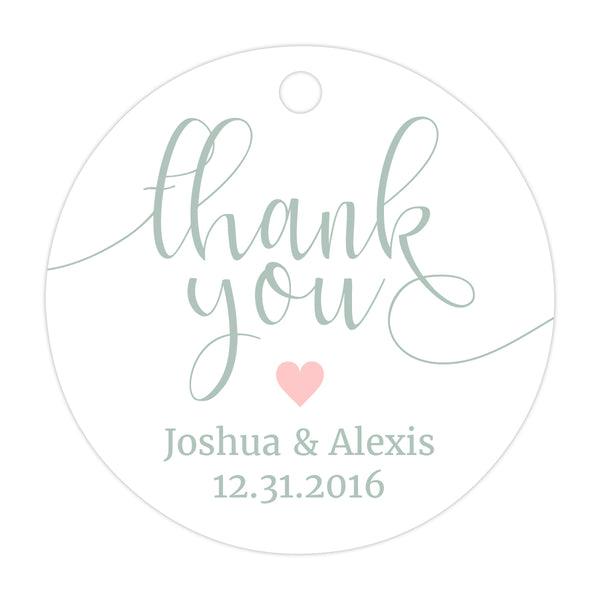 Thank you tags 'Whimsical Pastels' - Blush - Dazzling Daisies